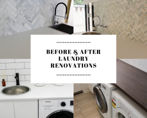 Before and After Laundry Renovations