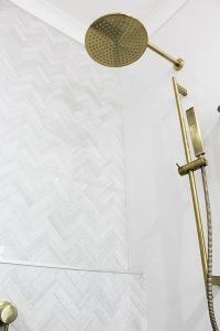 Brushed Brass Shower Head