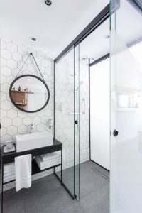 Sliding Black Frame Shower Screen Wall To Wall