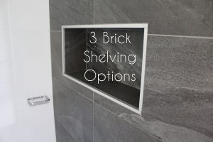 3 Brick Shelving Options