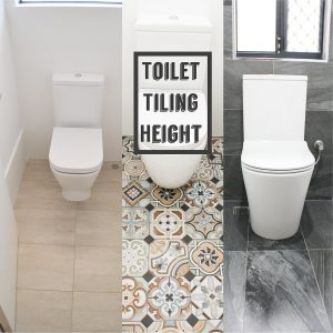 Toilet Tiling Height