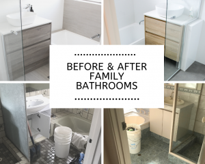 before and after family bathrooms