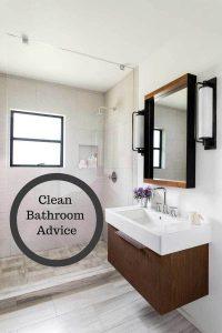 clean bathroom advice