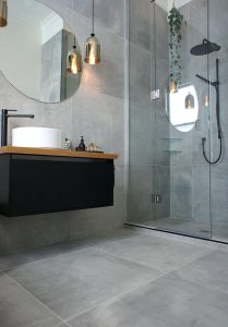 shower and basin
